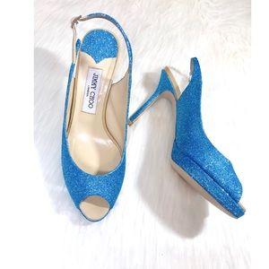 💎✨Tiffany Blue JimmyChoo Glitter Pumps!✨
